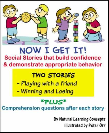 Books About Friendship - Social Story - Playing with a Friend and Winning & Losing (Now I Get it! Social
