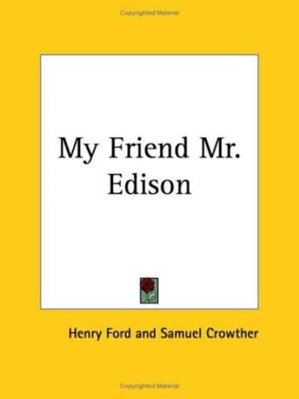 Books About Friendship - My Friend Mr. Edison