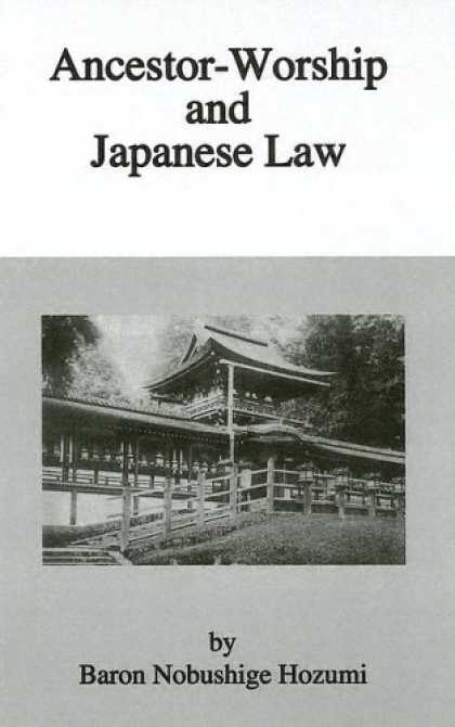 Books About Japan - Ancestor Worship & Japanese Law (Kegan Paul Japan Library)