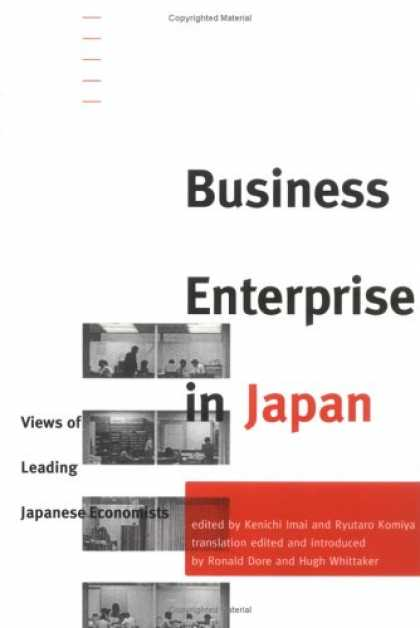 Books About Japan - Business Enterprise in Japan: Views of Leading Japanese Economists