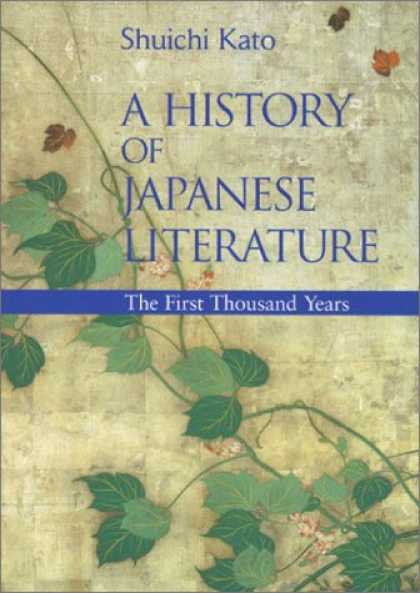 Books About Japan - A History of Japanese Literature: The First Thousand Years