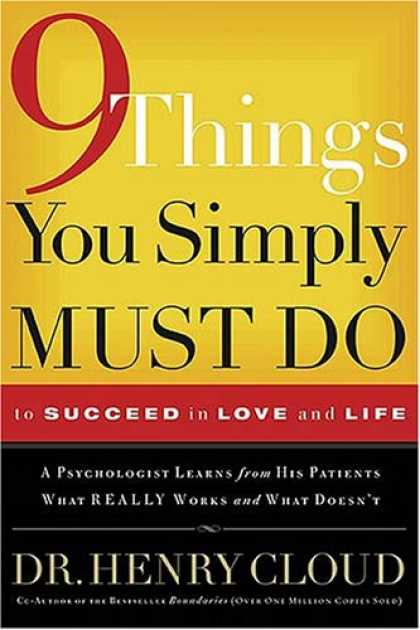 Books About Love - 9 Things You Simply Must Do to Succeed in Love and Life: A Psychologist Learns f