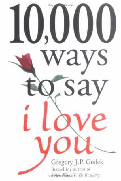 Books About Love - 10,000 Ways to Say I Love You