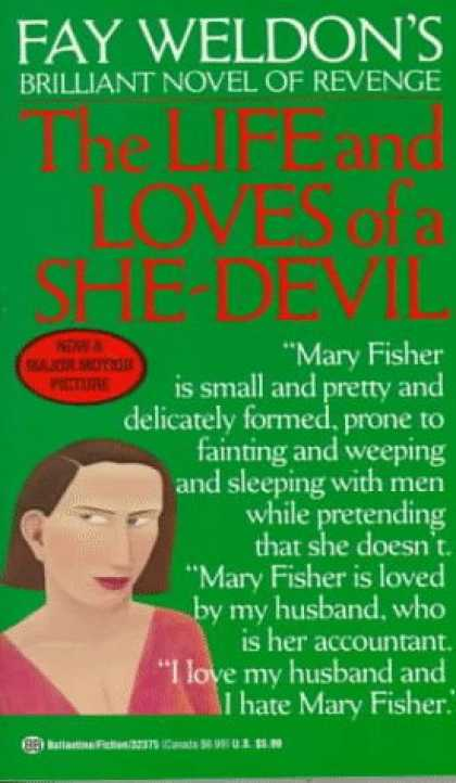 Books About Love - The Life and Loves of a She Devil