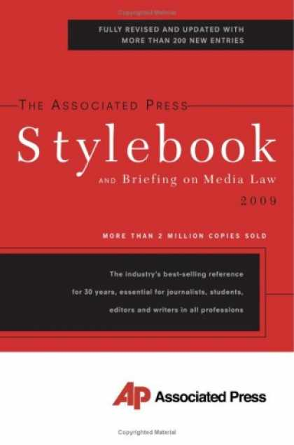 Books About Media - The Associated Press Stylebook 2009 (Associated Press Stylebook and Briefing on