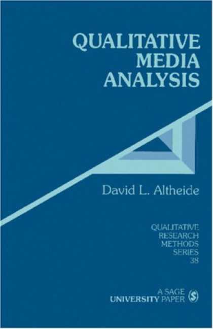 Books About Media - Qualitative Media Analysis (Qualitative Research Methods)
