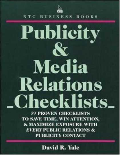 Books About Media - Publicity & Media Relations Checklists