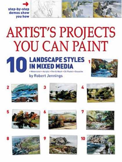 Books About Media - Artist's Projects You Can Paint - 10 Landscape Styles in Mixed Media (Art