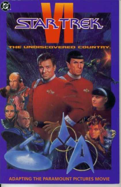 Books About Movies - Star Trek VI : The Undiscovered Country (Official Movie Adaptation - DC Comics)