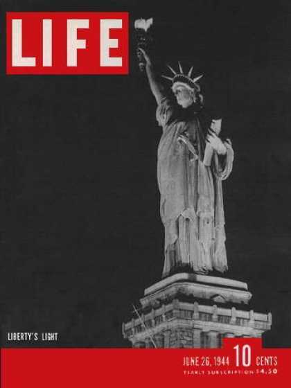 Books About Movies - Life Magazine June 26, 1944: MOVIES: Hollywood Stand-Ins; Invatsion of France; A