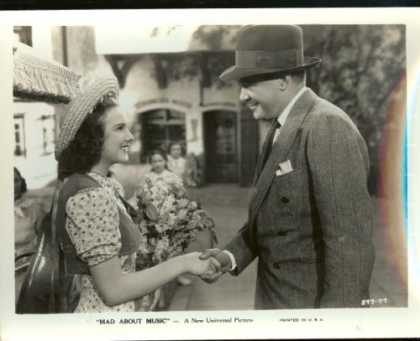 "Books About Movies - Deanna Durbin, William Frawley, ""Mad About Music"" (Universal Movie Still - 8 X 1"