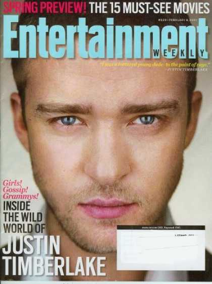Books About Movies - Entertainment Weekly February 9, 2007 Justin Timberlake (Spring Preview 15 Must