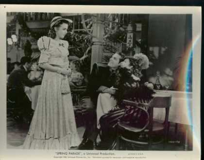 "Books About Movies - Deanna Durbin ""Spring Parade"" 8 X 10 Black & White Movie Still"