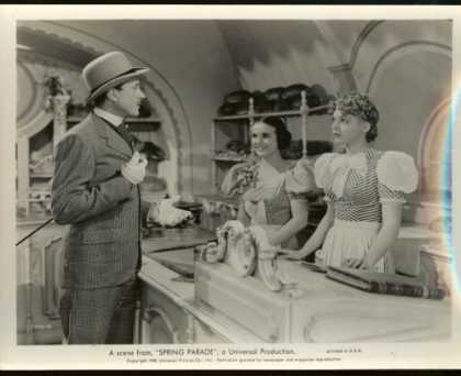 "Books About Movies - Deanna Durbin ""Spring Parade"" 8 X 10 Black & White Bakery Scene Movie Still"