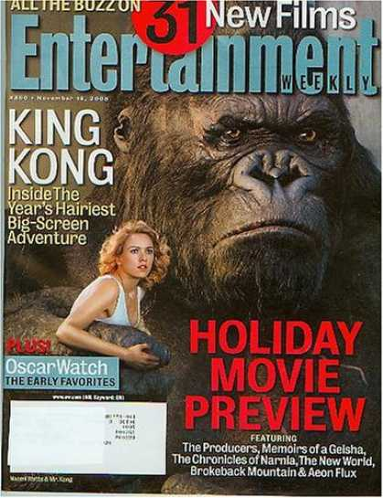 Books About Movies - Entertainment Weekly November 18, 2005 King Kong, Holiday Movie Preview (#850)