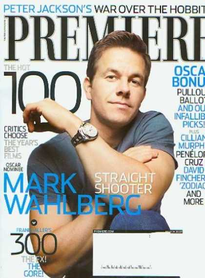Books About Movies - Premiere Magazine March 2007 Mark Wahlberg (The Movie Magazine)