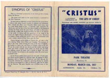 Books About Movies - Cristus The Life of Christ Movie Herald Program
