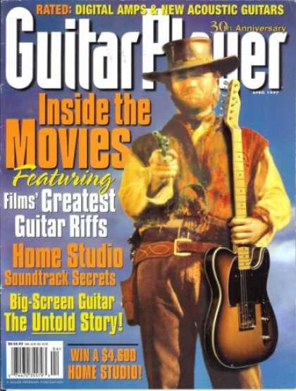 Books About Movies - Guitar Player Magazine (April 1997) (Inside The Movies -Featuring Films' Greates