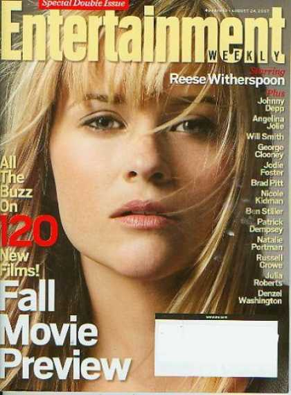 Books About Movies - Entertainment Weekly August 24 2007 - Reese Witherspoon, 120 New Films Fall Movi