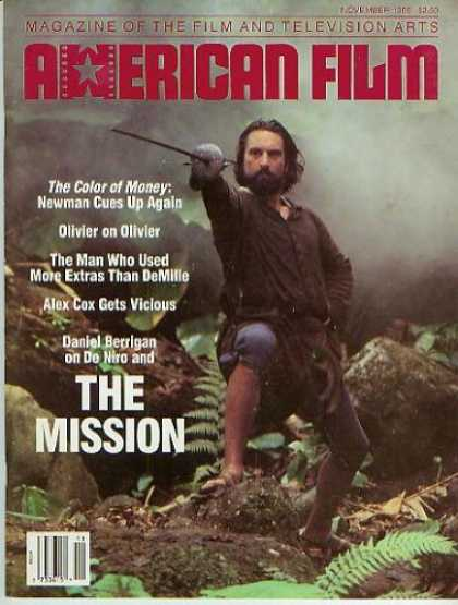 Books About Movies - American Film Magazine November 1986 - Robert DeNiro (Vol. XII, No. 2)