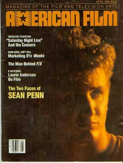 Books About Movies - American Film Magazine April 1986 - Sean Penn (Vol. XI, No. 6)