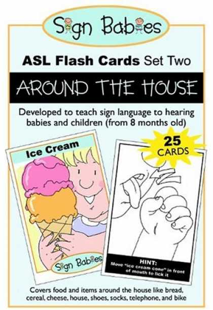 Books About Parenting - Sign Babies ASL Flash Cards, Set Two: Around the House