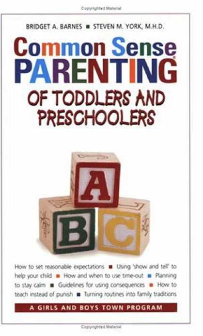 Books About Parenting - Common Sense Parenting of Toddlers and Preschoolers