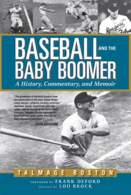 Books About Parenting - Baseball and the Baby Boomer: A History, Commentary, and Memoir