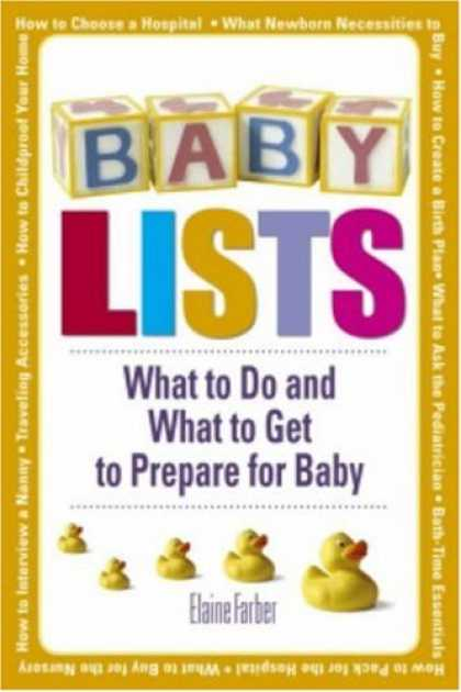 Books About Parenting - Baby Lists: What to Do and What to Get to Prepare for Baby