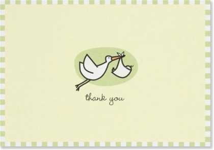 Books About Parenting - Baby Stork Thank You Notes (Stationery, Note Cards) (Note Card Series)