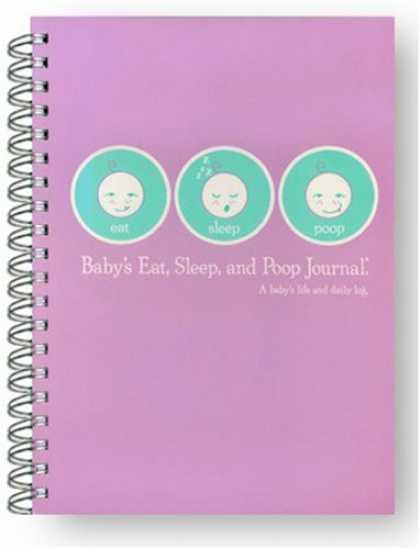 Books About Parenting - Baby's Eat, Sleep and Poop Journal, Log Book Lavender