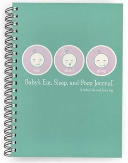 Books About Parenting - Baby's Eat, Sleep & Poop Journal, Log Book (Aqua)