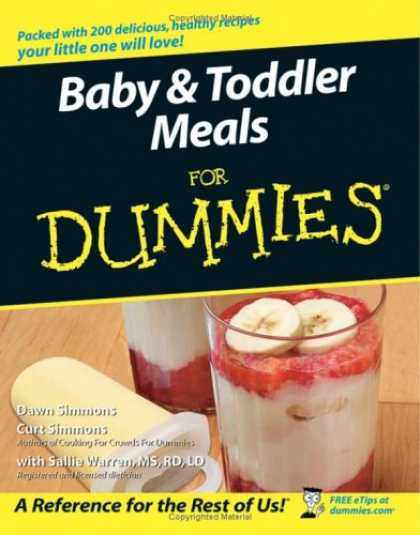 Books About Parenting - Baby & Toddler Meals For Dummies (For Dummies (Cooking))