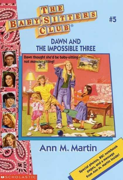 Books About Parenting - Dawn and the Impossible Three (The Baby-Sitters Club #5)