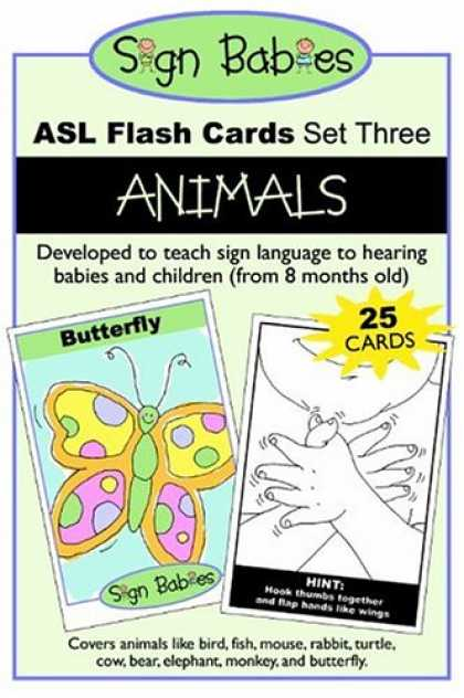 Books About Parenting - Sign Babies ASL Flash Cards, Set Three: Animals