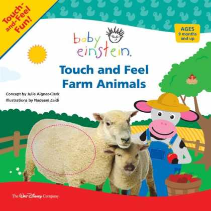 Books About Parenting - Baby Einstein: Touch and Feel Farm Animals
