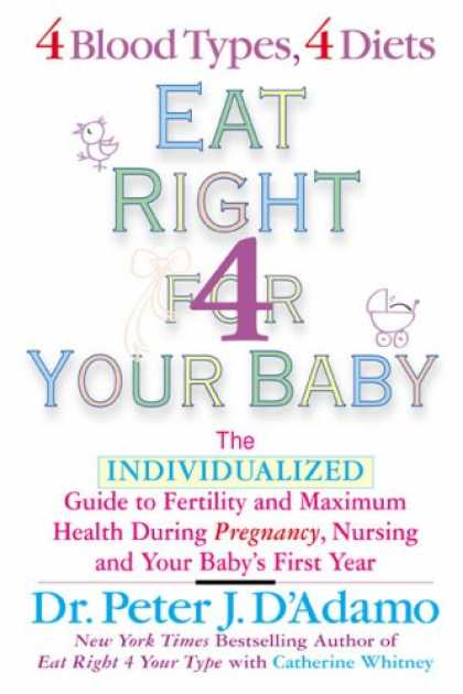 Books About Parenting - Eat Right For Your Baby: The Individulized Guide to Fertility and Maximum Heatlh