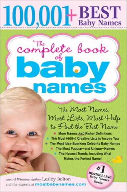 Books About Parenting - The Complete Book of Baby Names: The Most Names (100,001+), Most Unique Names, M