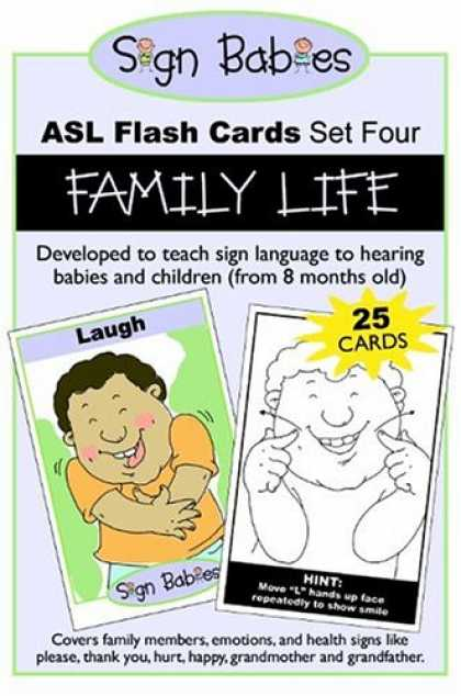 Books About Parenting - Sign Babies ASL Flash Cards, Set Four: Family Life