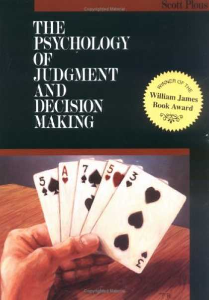 Books About Psychology - The Psychology of Judgment and Decision Making