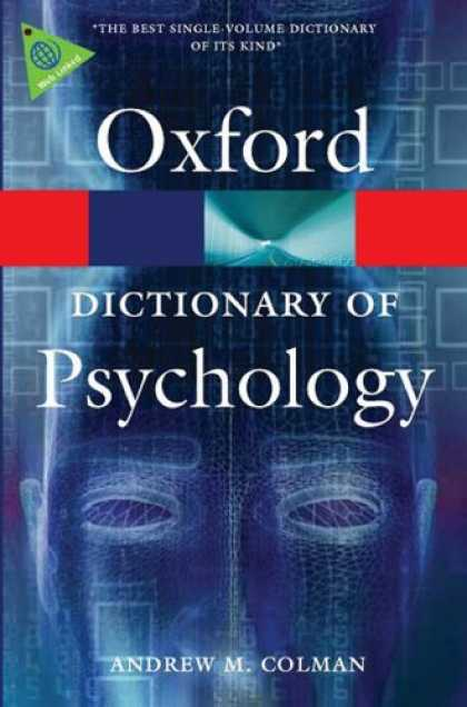 Books About Psychology - A Dictionary of Psychology (Oxford Paperback Reference)