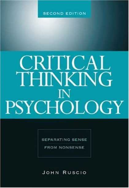 Books About Psychology - Critical Thinking in Psychology: Separating Sense from Nonsense