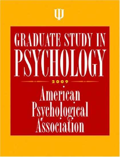 Books About Psychology - Graduate Study in Psychology, 2009