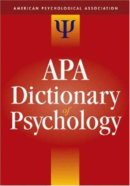 Books About Psychology - The APA Dictionary of Psychology