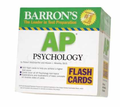 Books About Psychology - Barron's AP Psychology Flash Cards (Barron's: the Leader in Test Preparation)
