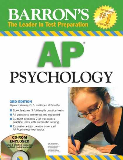 Books About Psychology - Barron's AP Psychology (Book & CD-ROM)