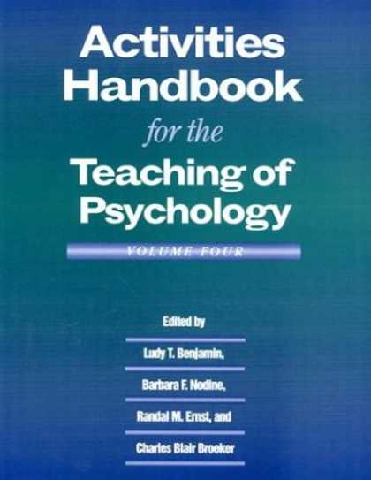 Books About Psychology - Activities Handbook for Teaching Psychology (Activities Handbook for the Teachin
