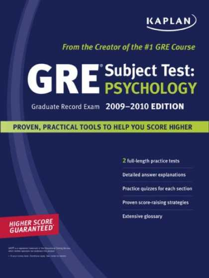 Books About Psychology - Kaplan GRE Exam Subject Test: Psychology 2009-2010 Edition (Kaplan Gre Psycholog