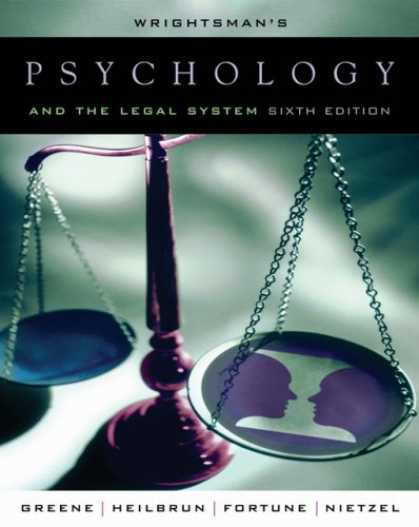 Books About Psychology - Wrightsman's Psychology and the Legal System