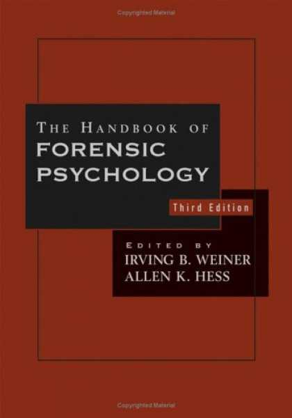 Books About Psychology - The Handbook of Forensic Psychology